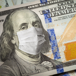 100 dollar bill with mask